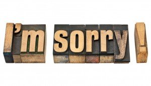I am sorry in wood type