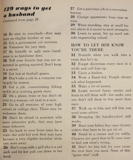 How To Find A Husband (in 1958